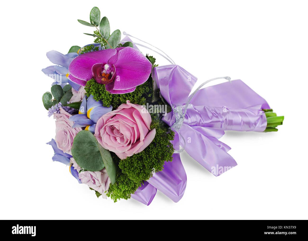 Bouquet Sposa Iris.Fiori Colorati In Wedding Bouquet Per La Sposa Da Roses Iris E
