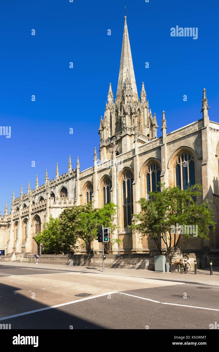 St Mary's Chiesa Universitaria di Oxford, Oxfordshire, Inghilterra. Immagini Stock