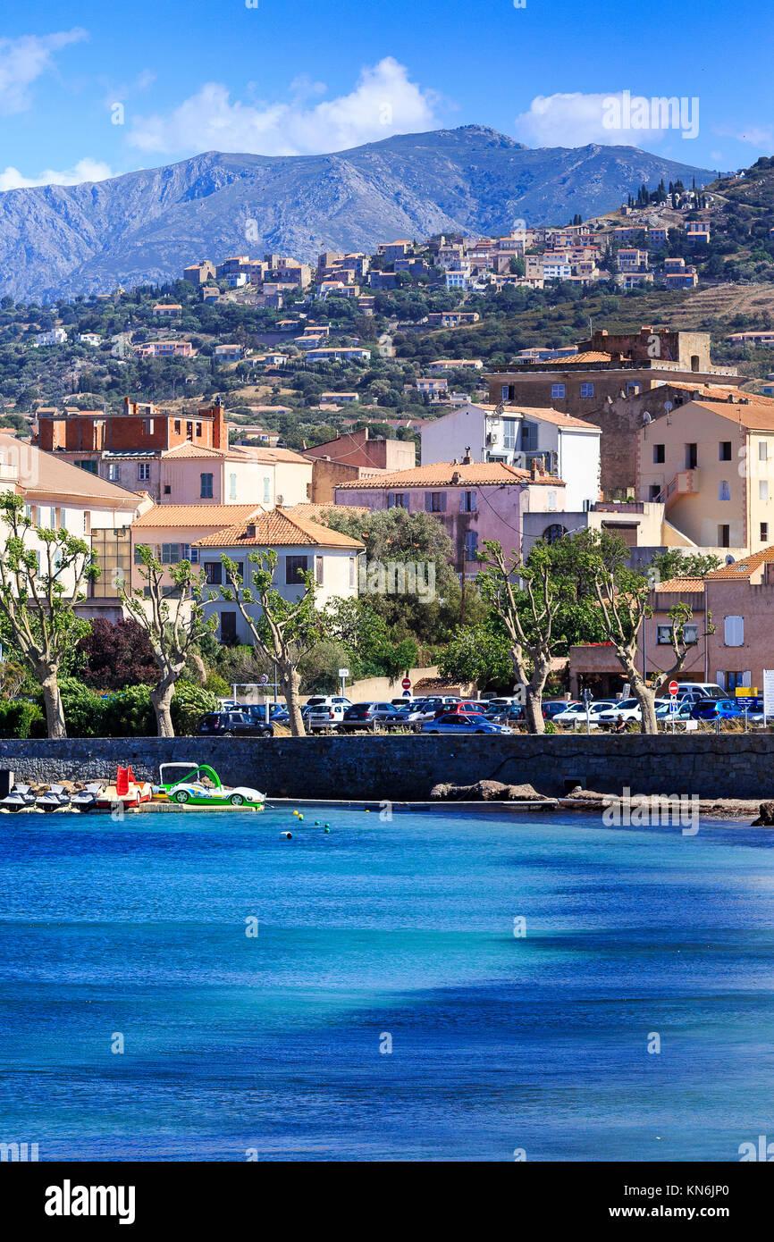 Ille Rousse, Corsica Immagini Stock