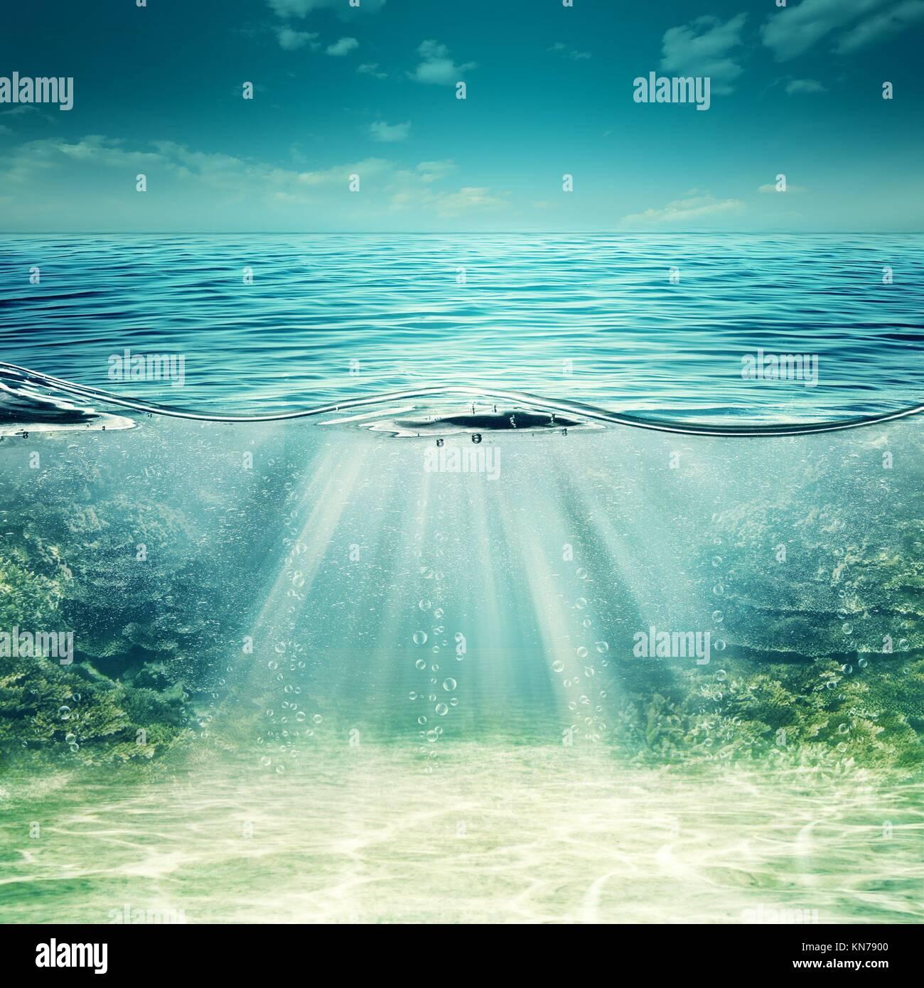 Mare Blu Profondo Abstract Underwater Sfondi Per Il Tuo Design Foto
