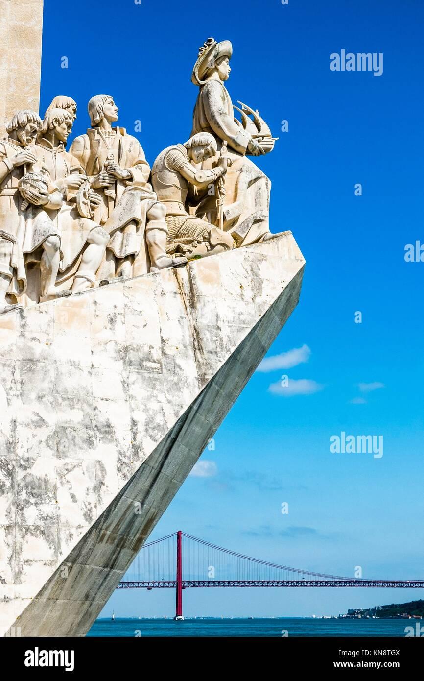 Padrao dos Descobrimentos (il Monumento delle Scoperte) a Lisbona, Portogallo. Immagini Stock