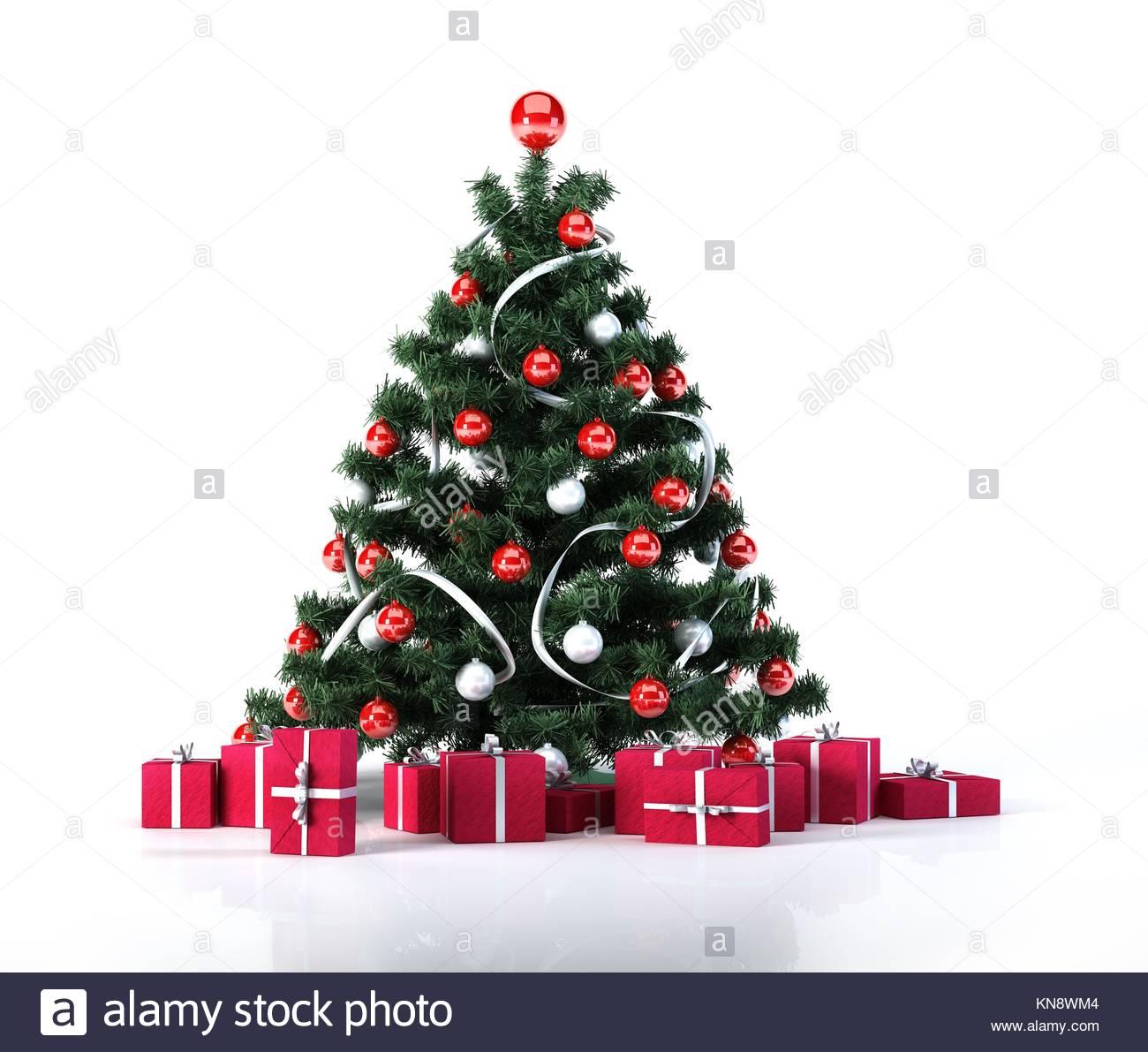 Pallina Natale Con Foto Digitale.Albero Di Natale Con Palline Dorate E Decorazione Al Di
