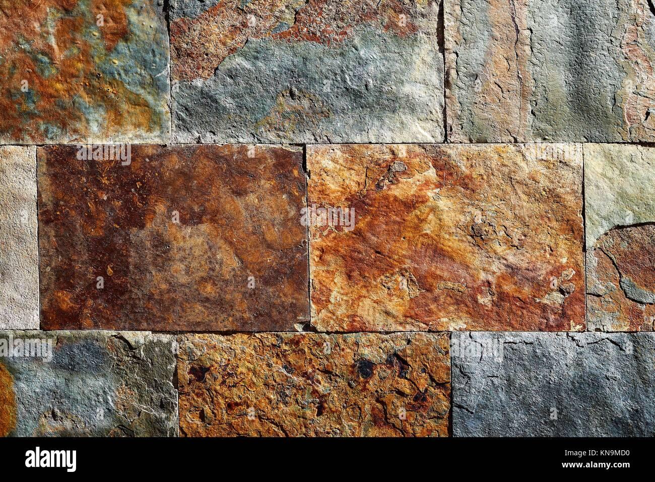 Pietra ardesia texture colorate piastrelle con arrugginito rosso