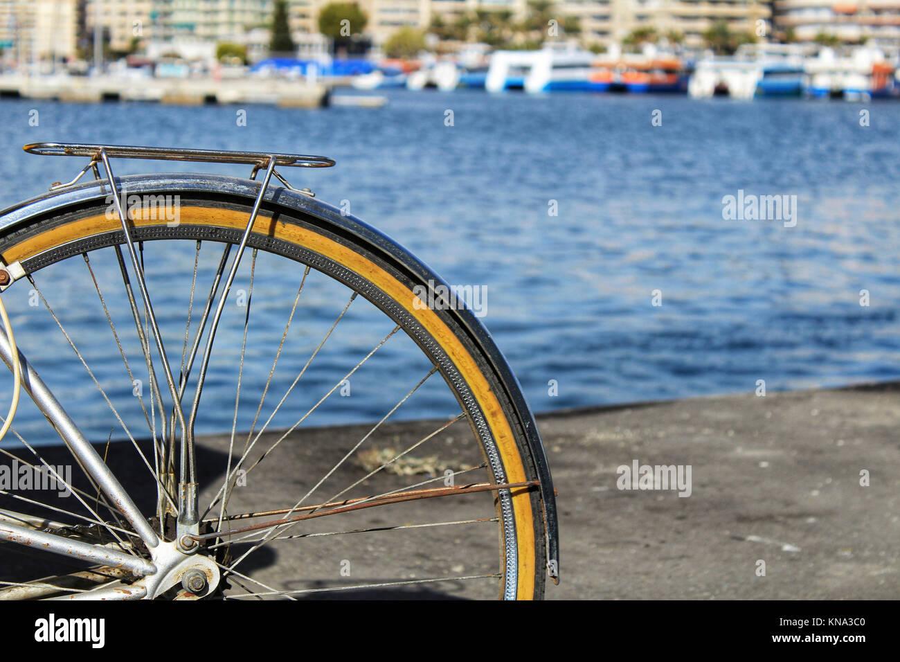 Vintage Bicicletta Per Il Mare In Spagna Foto Immagine Stock