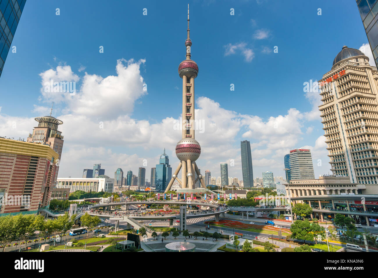 Oriental Pearl Tower a Shanghai Immagini Stock