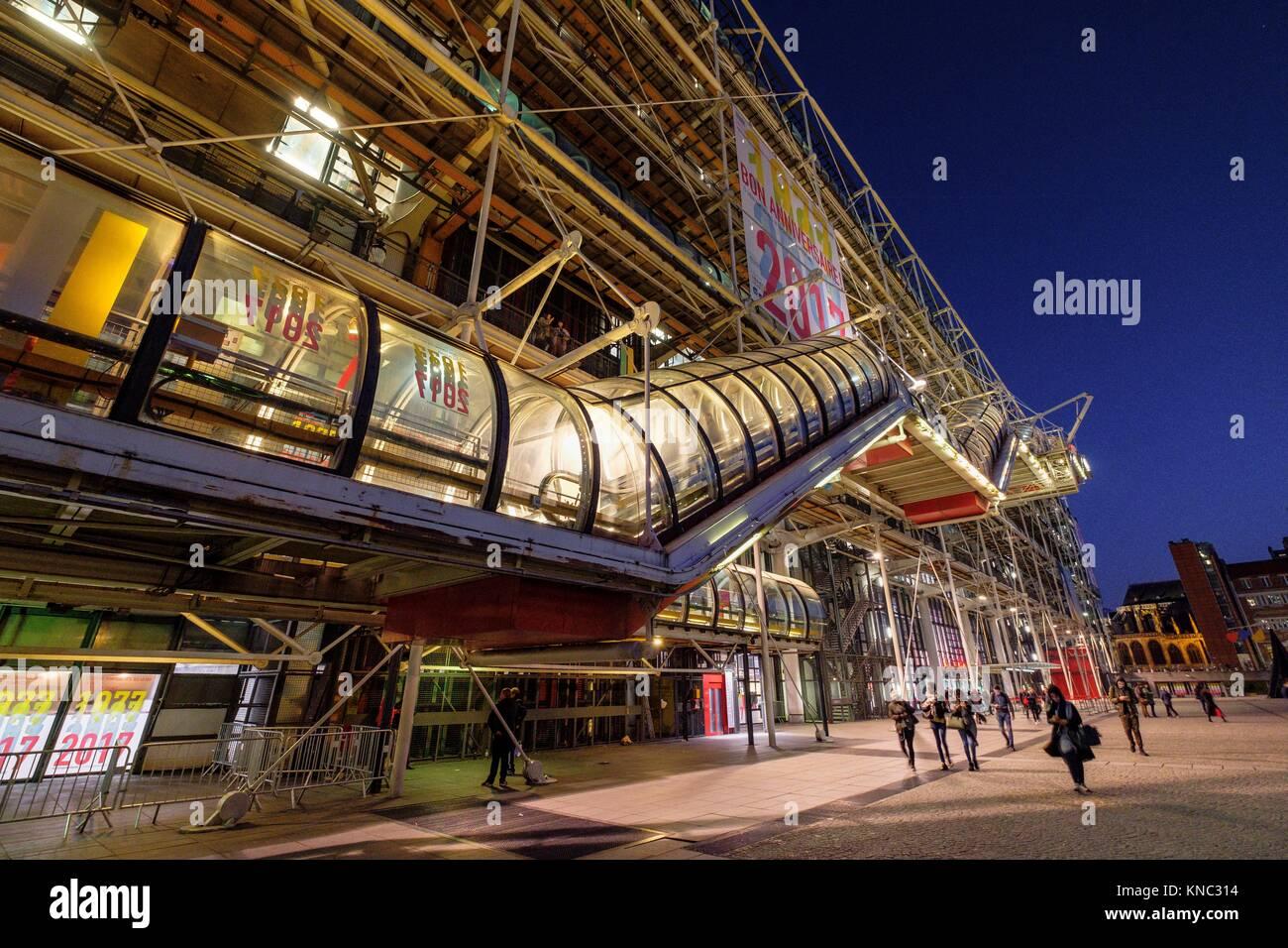 Centre national d'art et de la cultura Georges-Pompidou, Parigi, Francia Immagini Stock