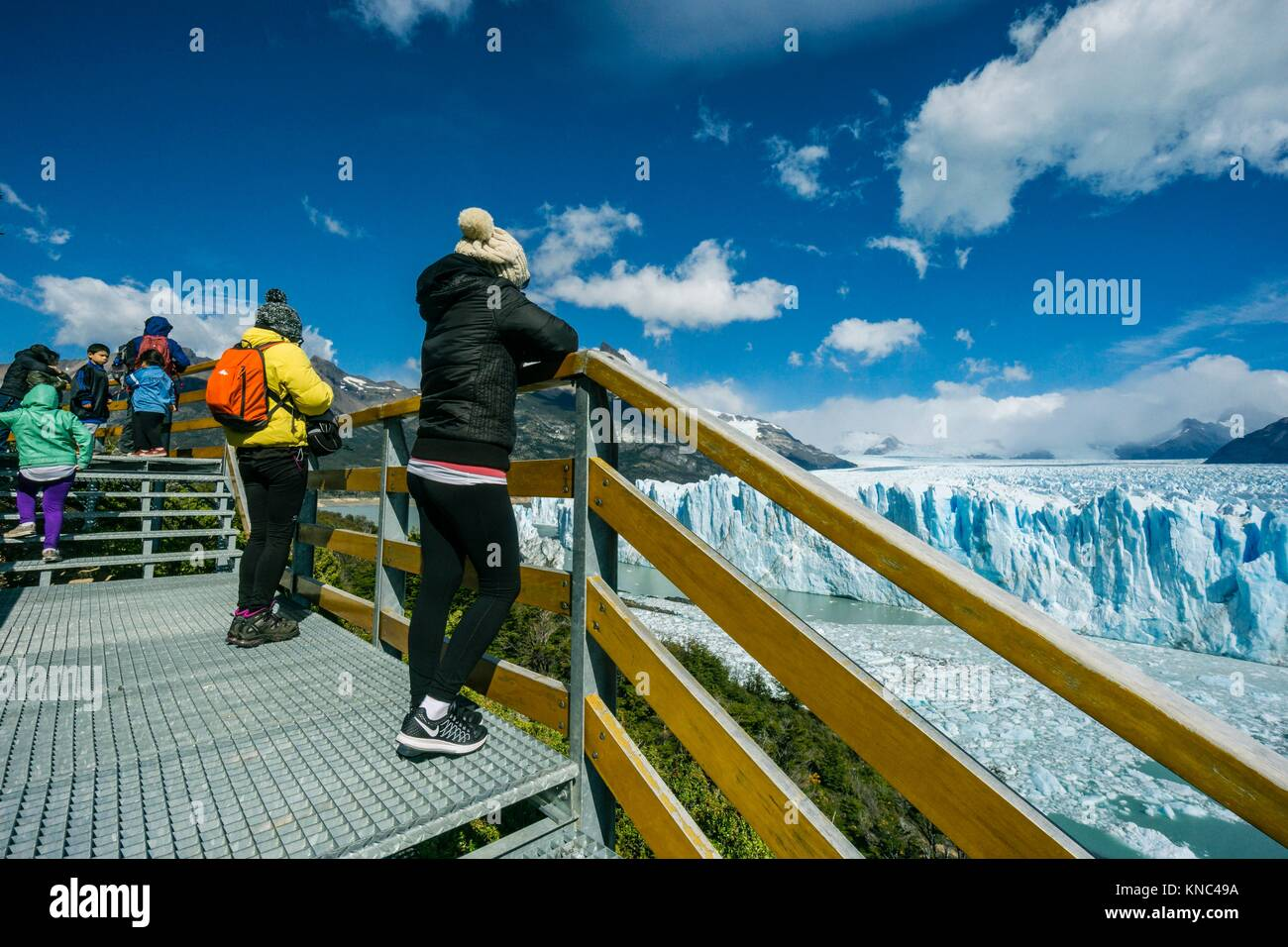 Glaciar Perito Moreno, Parque Nacional Los Glaciares, departamento Lago Argentino, provincia de Santa Cruz, Patagonia, Immagini Stock