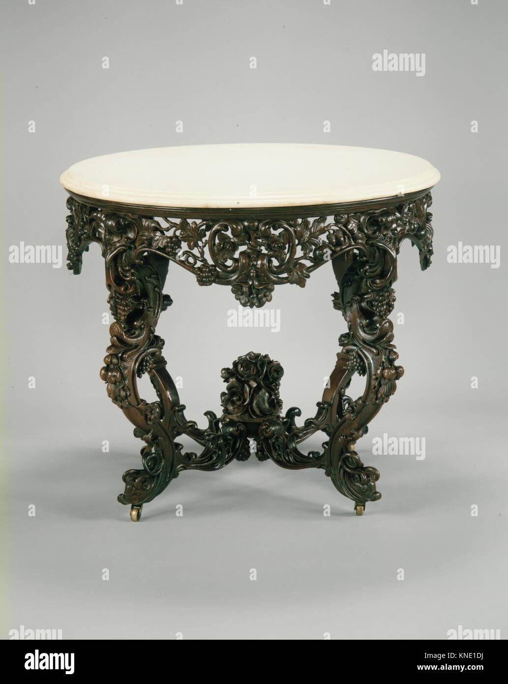 Tavolo console incontrato ADA3174 2251 Maker: attribuita a Giovanni H. Belter, 1804?1863, Tavolo console, ca. 1855, Immagini Stock