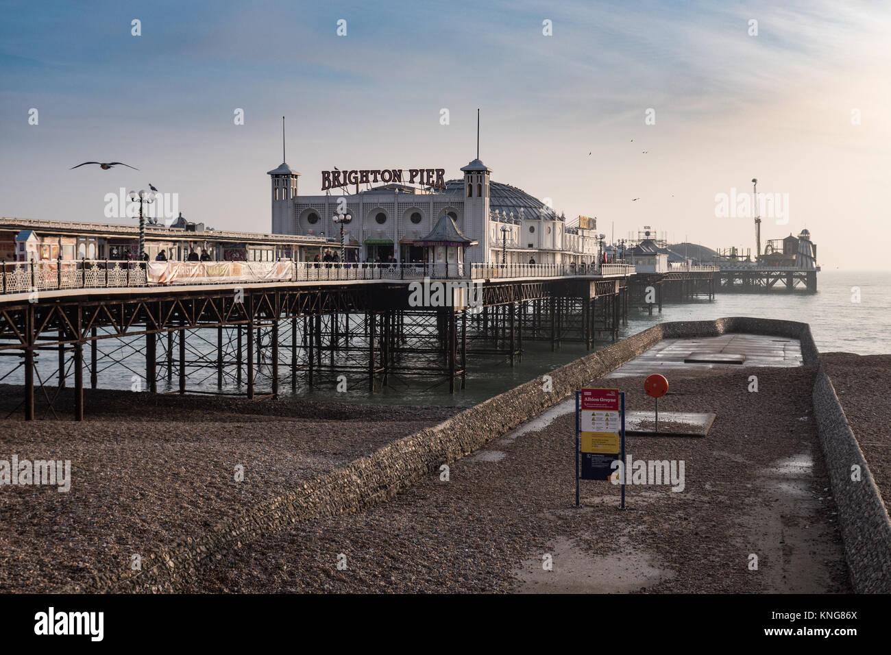 Il Brighton Pier, Sussex, Inghilterra, Regno Unito. Immagini Stock