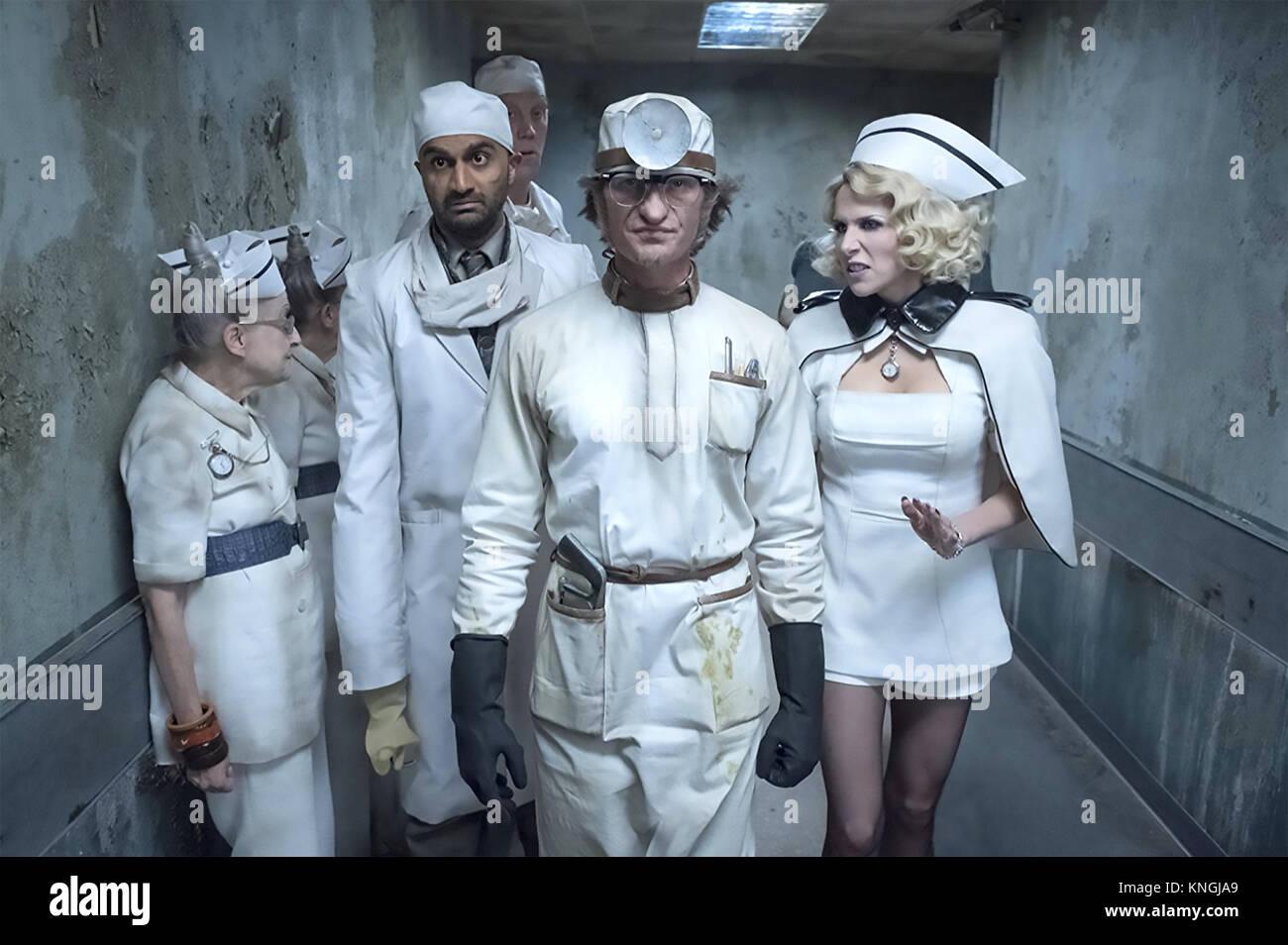 Una serie di sfortunati eventi 2017> Paramount serie televisiva con Lucy Punch e Neil Patrick Harris a destra. Immagini Stock