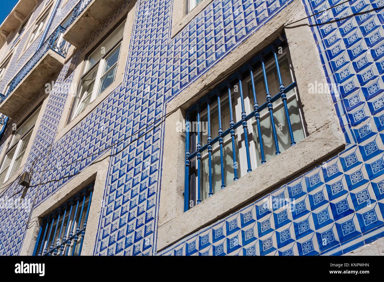 Il portoghese piastrelle tradizionali dettagli esterni