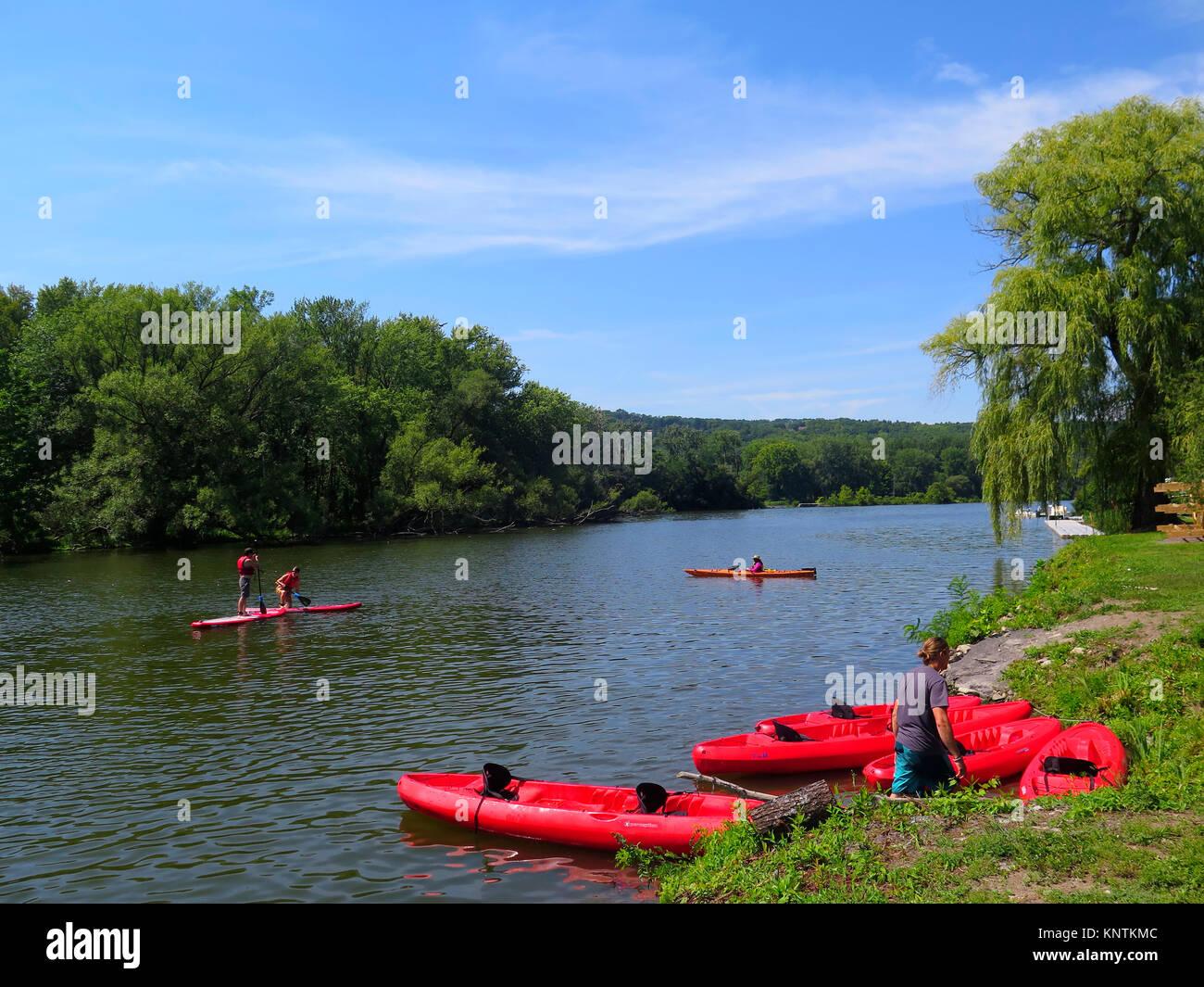 Ithaca, Steward Park, nello stato di New York, Stati Uniti d'America Immagini Stock