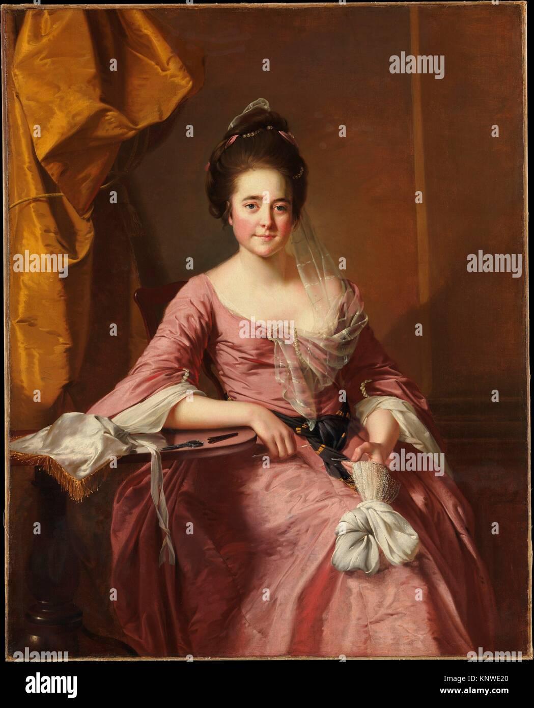 Ritratto di una donna. Artista: Joseph Wright (Wright di Derby) (British, Derby Derby 1734-1797); data: ca. 1770; Foto Stock