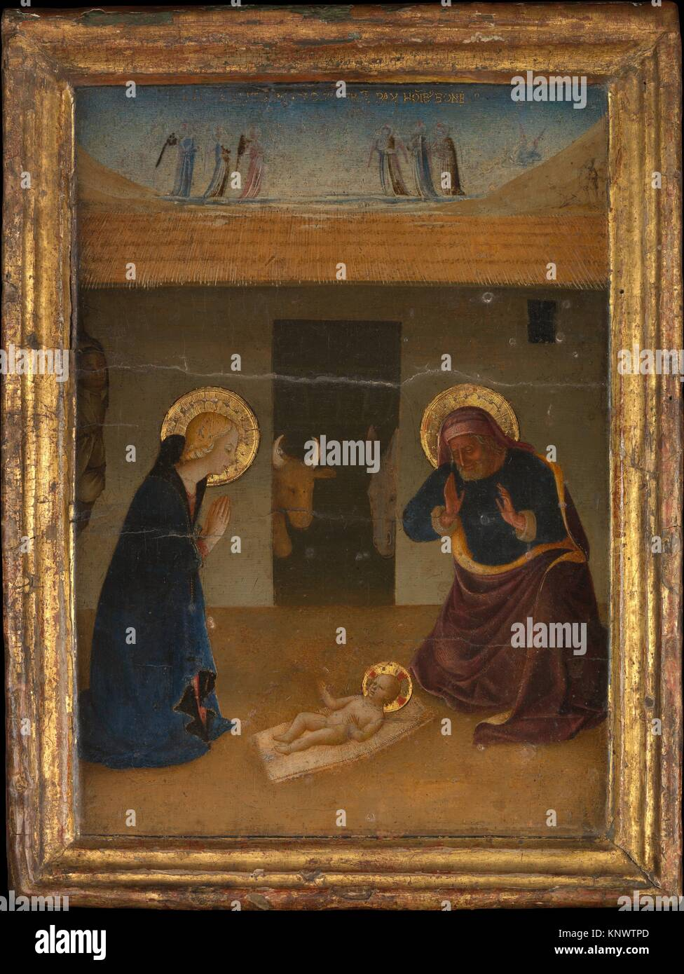 La natività. Artista: Zanobi Strozzi (Italiano, 1412-1468 Firenze Firenze); medie: tempera e oro su legno; Immagini Stock