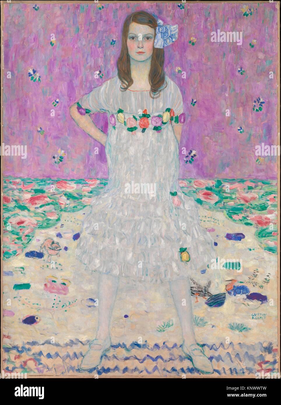 Mäda Primavesi (1903-2000). Artista: Gustav Klimt (austriaco, Baumgarten 1862-1918 Vienna); data: 1912-13; medie: Olio su tela; Dimensioni: 59 x 43 Foto Stock