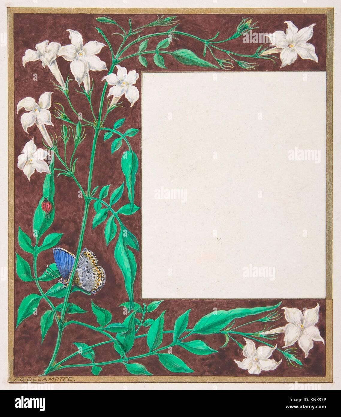 Floral Design di confine. Artista: Freeman Gage Delamotte (British, Sandhurst 1813/14-1862 Londra); data: 1830-62; Immagini Stock