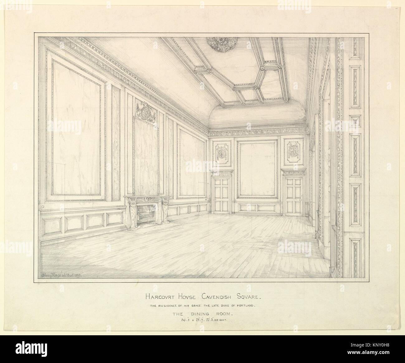 Harcourt House Cavendish Square, la sala da pranzo. Artista: Henry ...