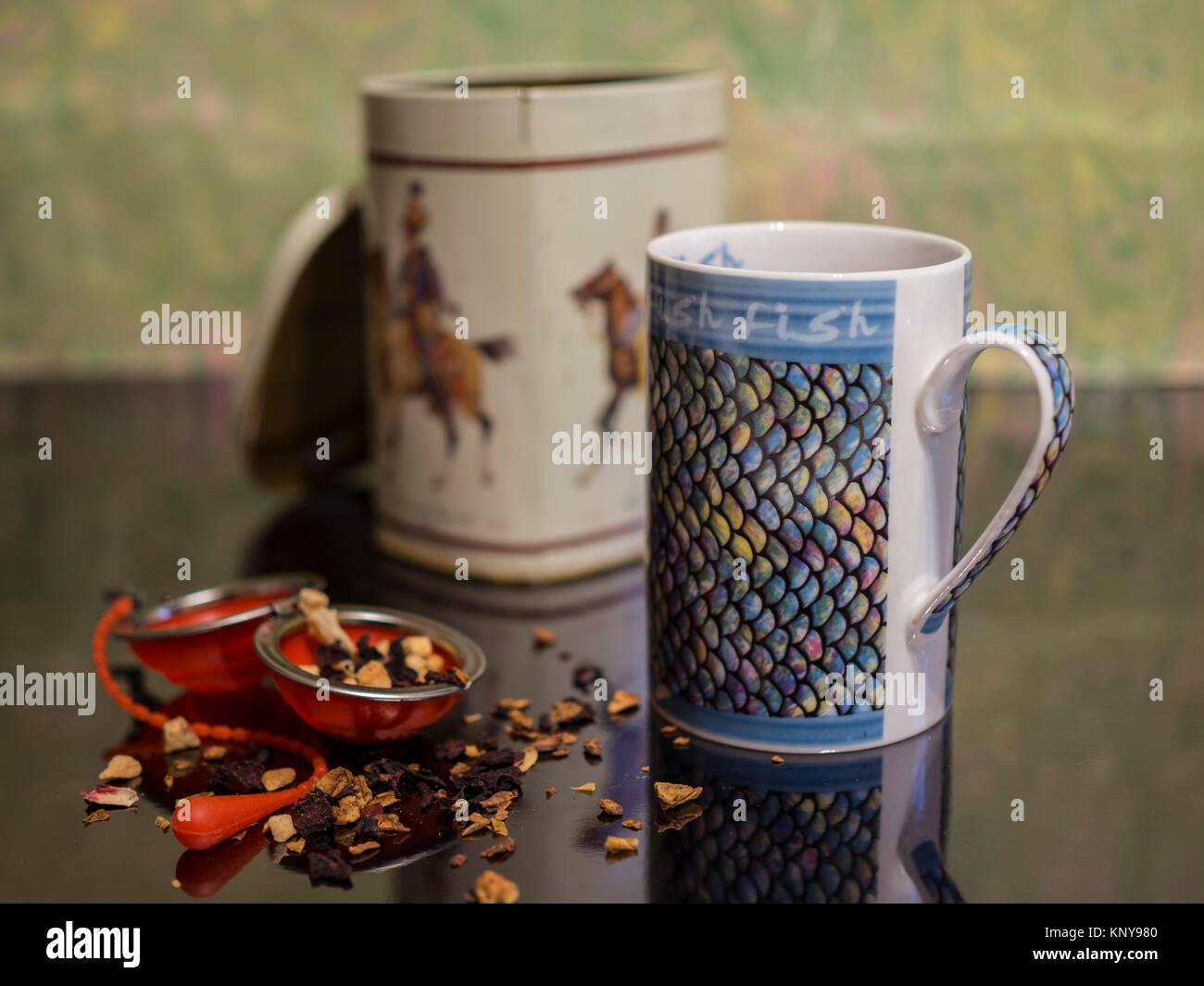 Una tazza di tè. Immagini Stock