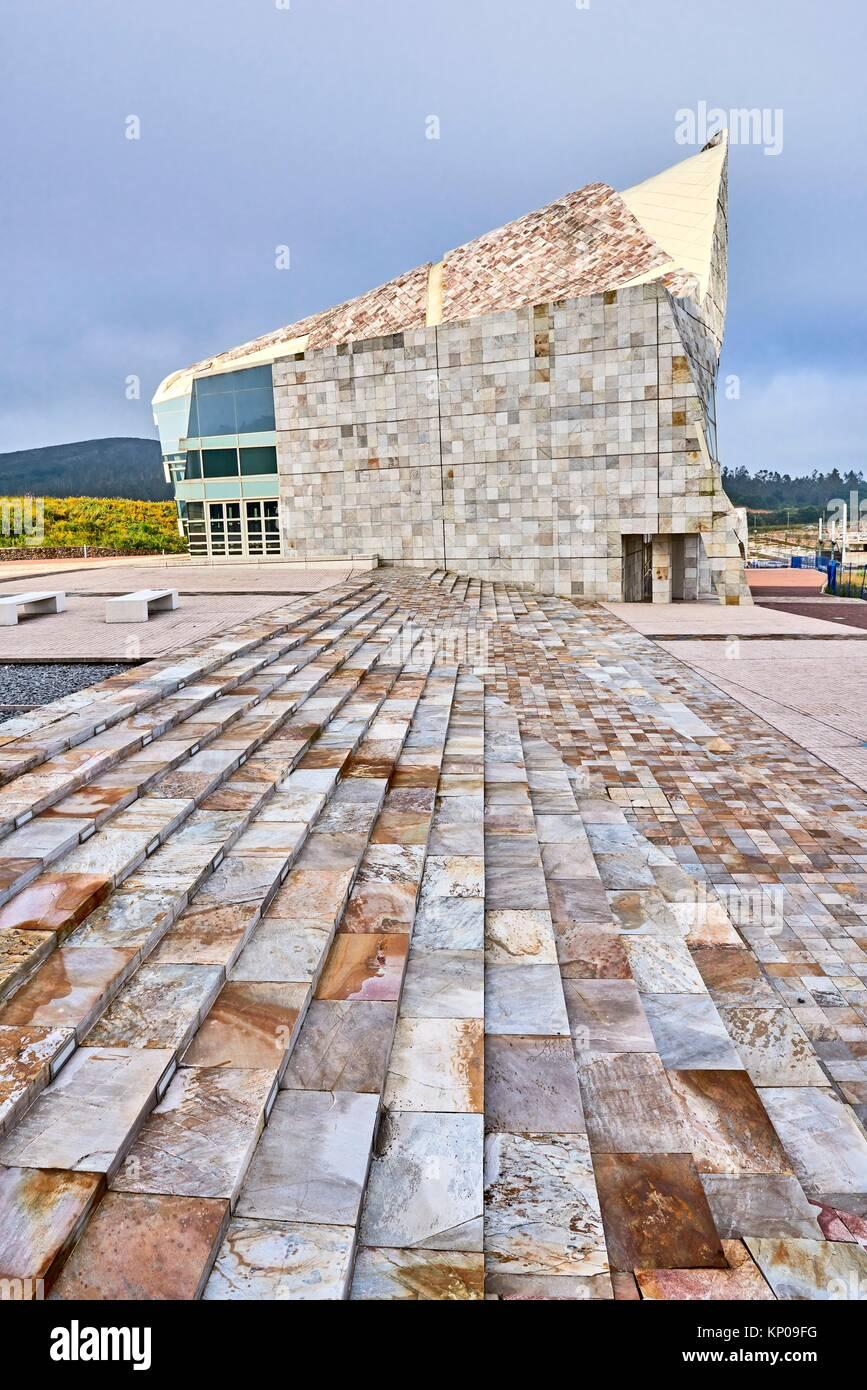 Città della cultura della Galizia, Cidade da Cultura de Galicia progettato da Peter Eisenman, Santiago de Compostela, Immagini Stock