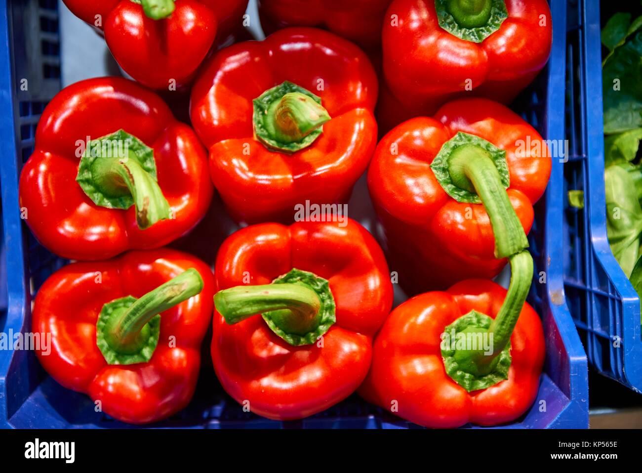 Peperoni rossi. Immagini Stock