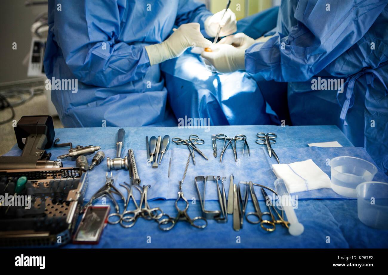 La chirurgia ortopedica Immagini Stock