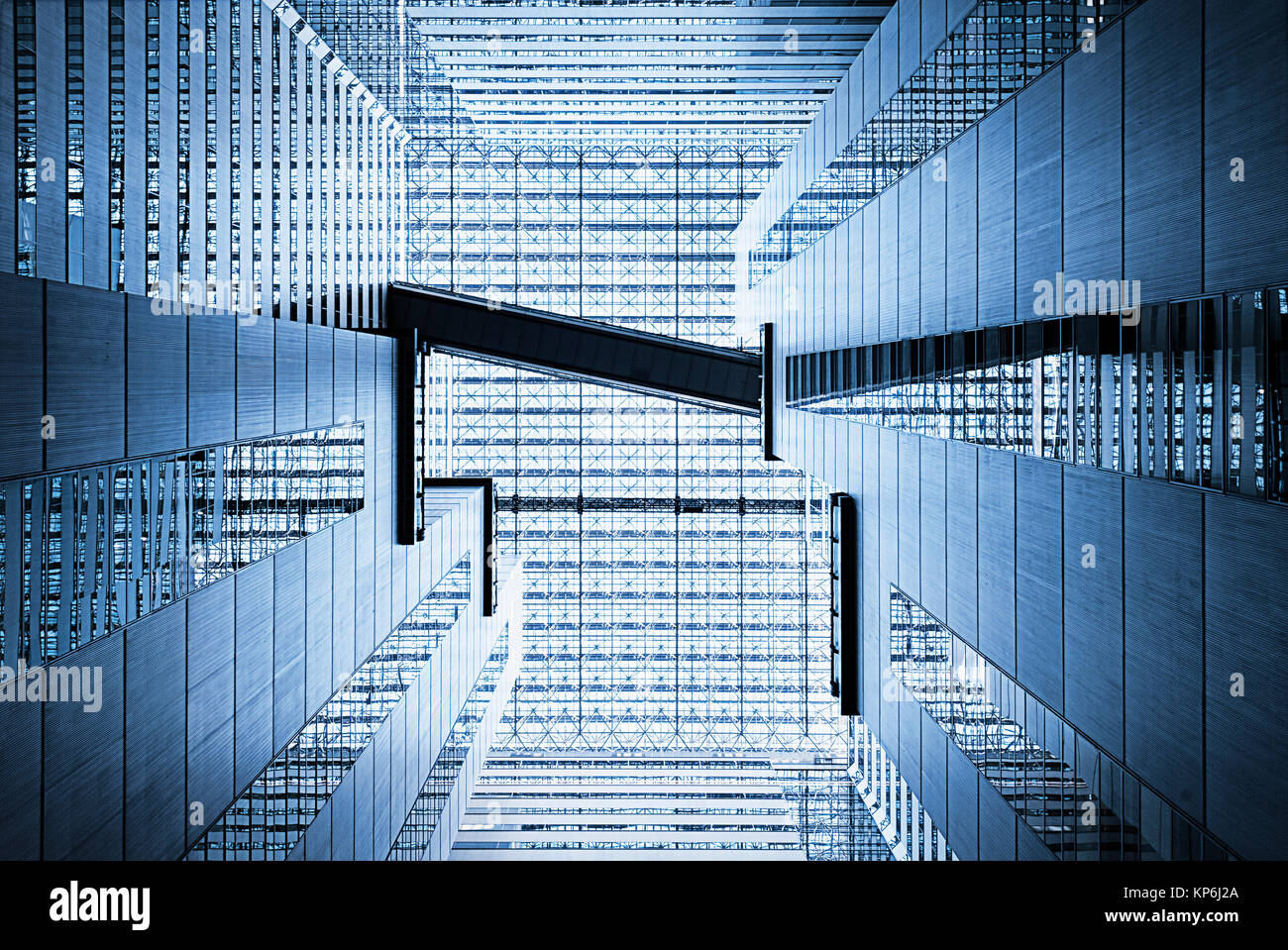 Abstract architettura Atrium Foto Stock