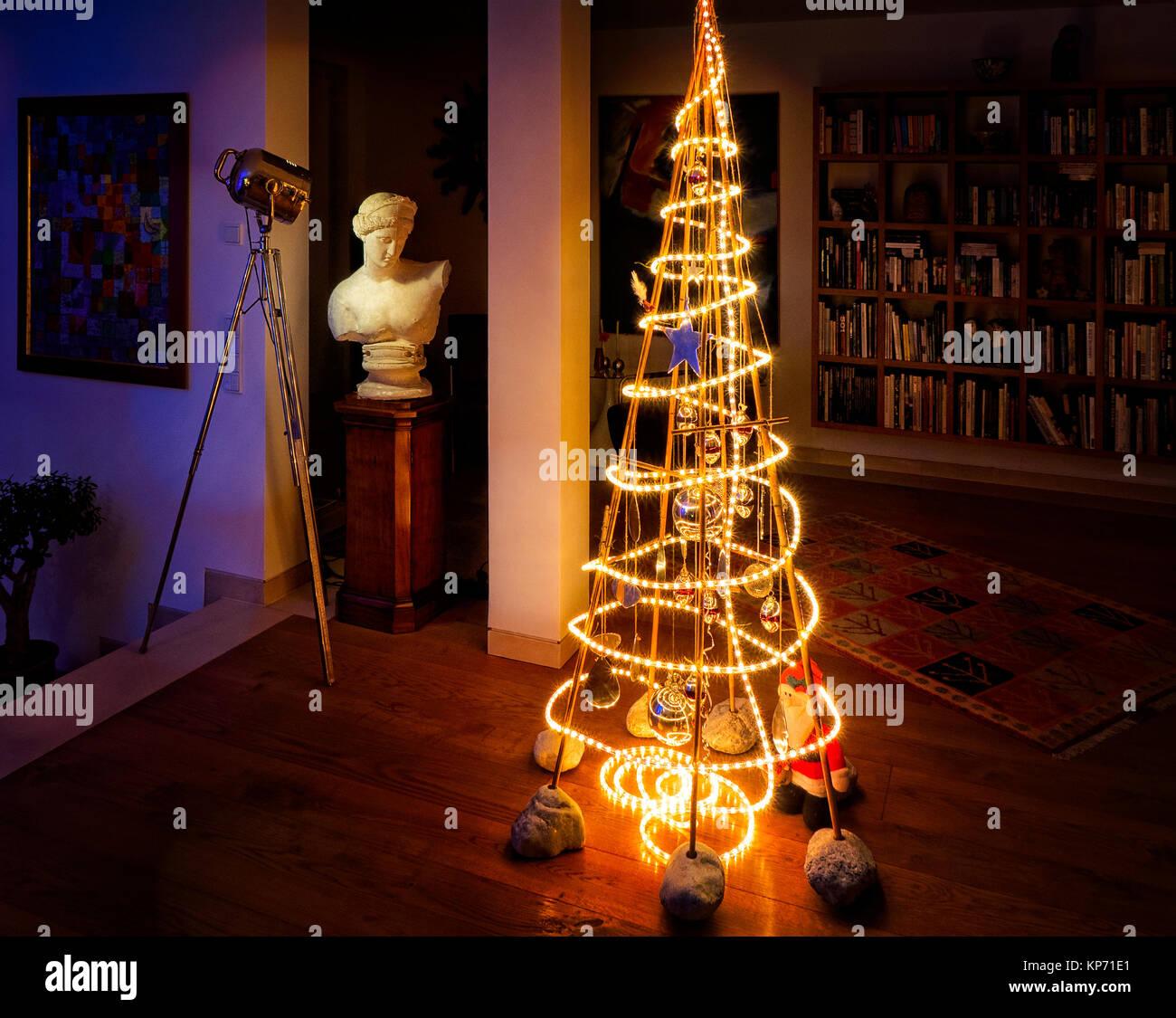 Tema Natale Minimaliste Albero Di Natale Allinterno Della