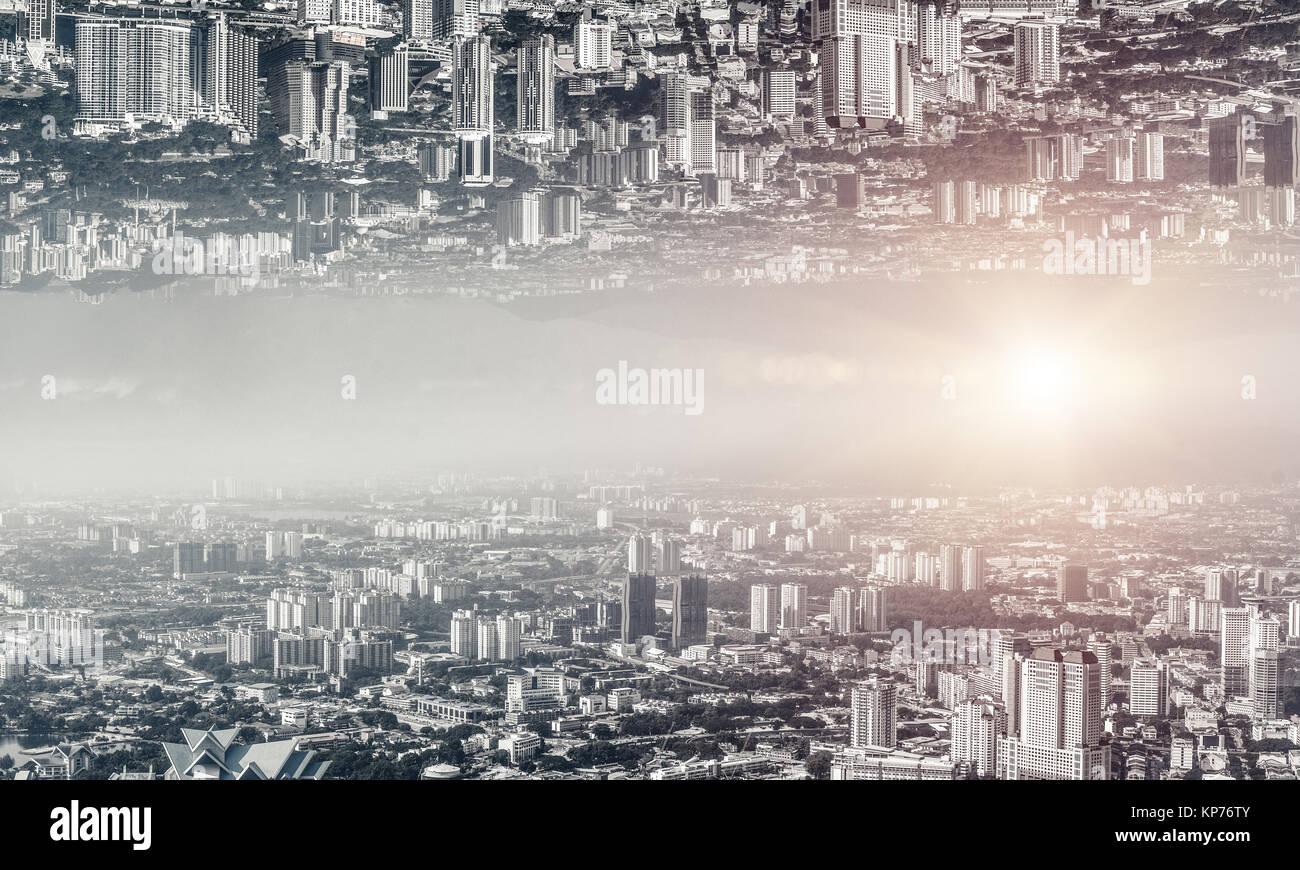 Paesaggio urbano moderno vista. Immagini Stock