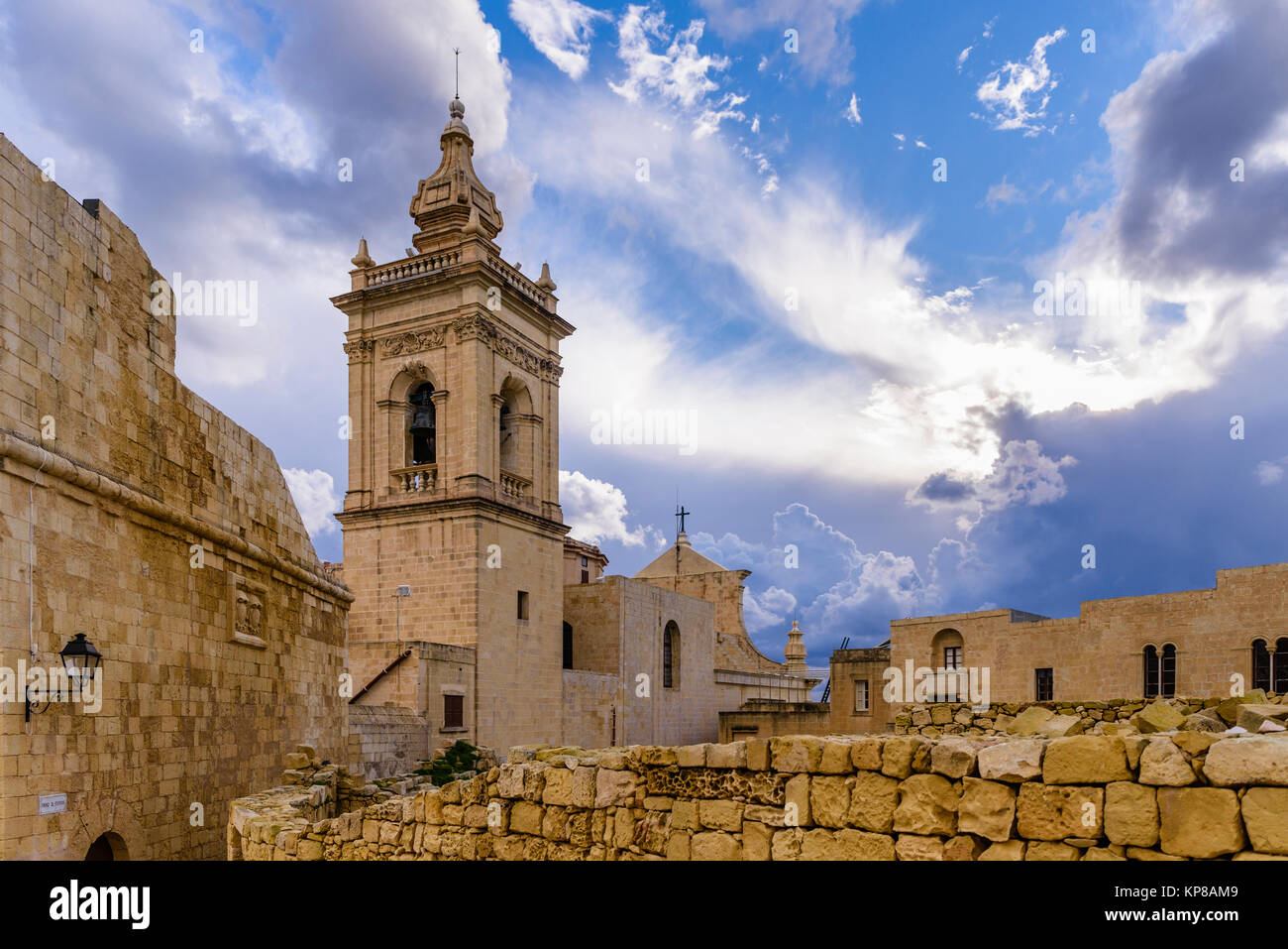 Cittadella Cittadella di Victoria a Gozo, Malta Immagini Stock