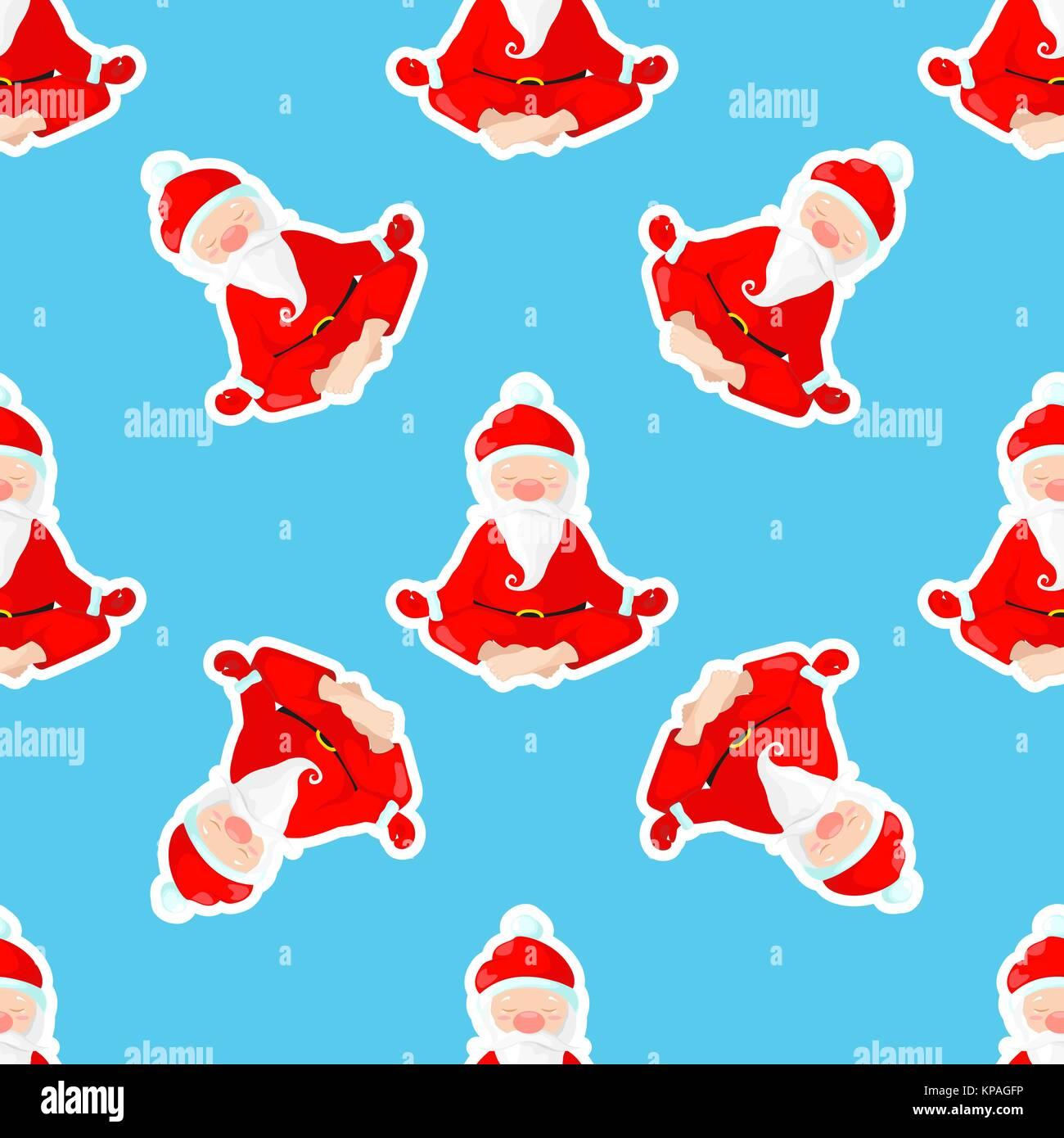 Posizione Babbo Natale.Santa Claus Si Siede Nella Posizione Del Loto Babbo Natale E