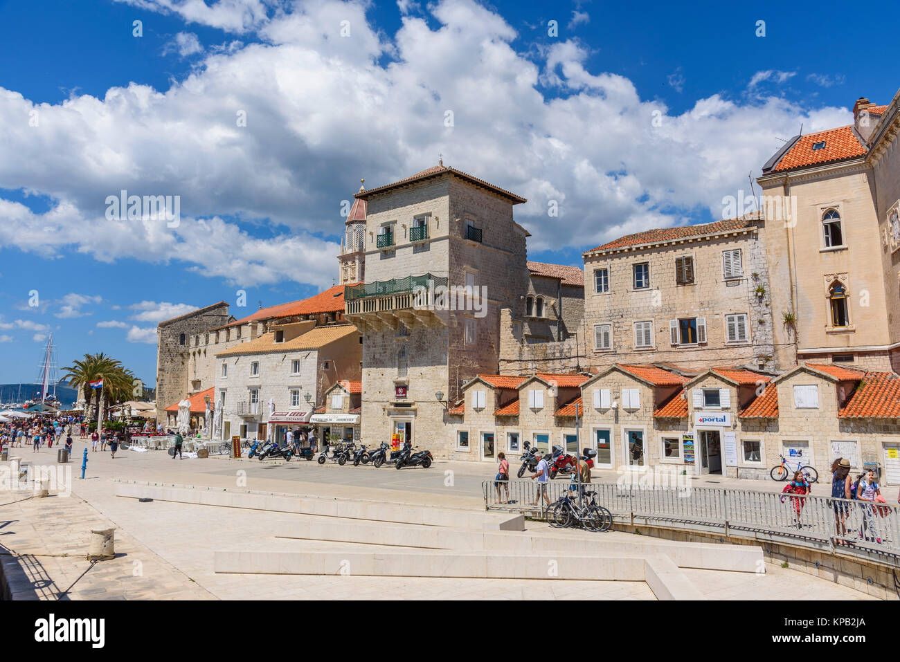 Centro storico di Traù, Croazia Immagini Stock