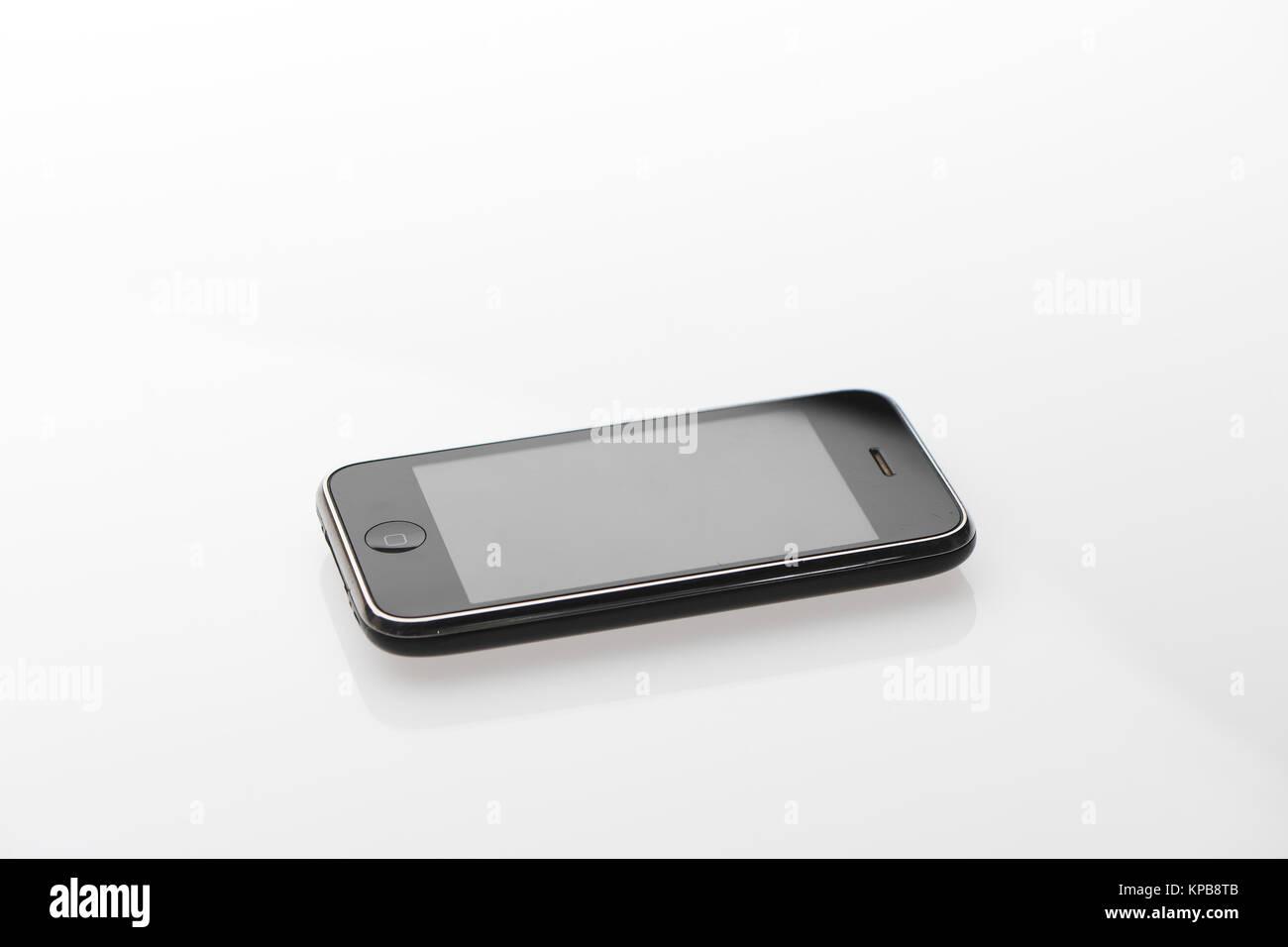 Iphone Originale Su Sfondo Bianco Foto Immagine Stock 168664171