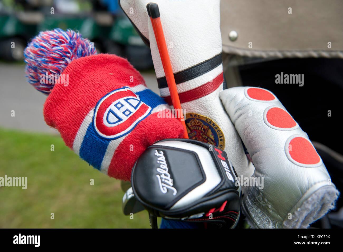 Montreal Canadiens (famoso ice hockey team) golf club headcover. Immagini Stock