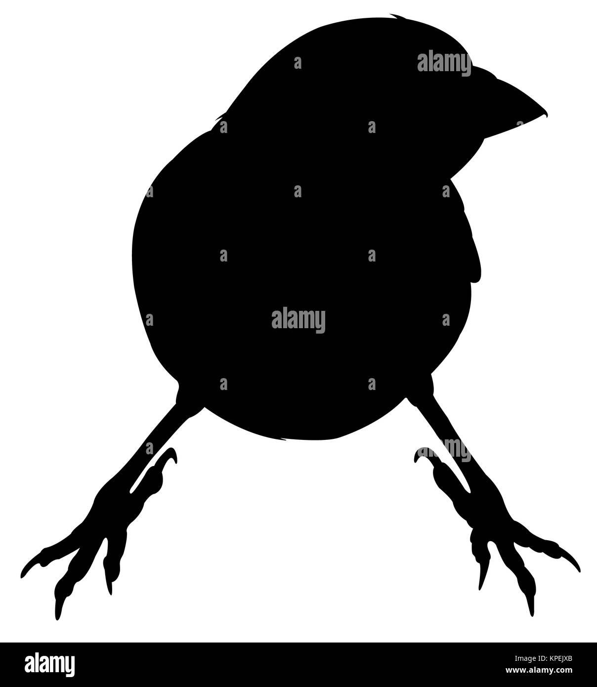 Un passero vettore silhouette Immagini Stock
