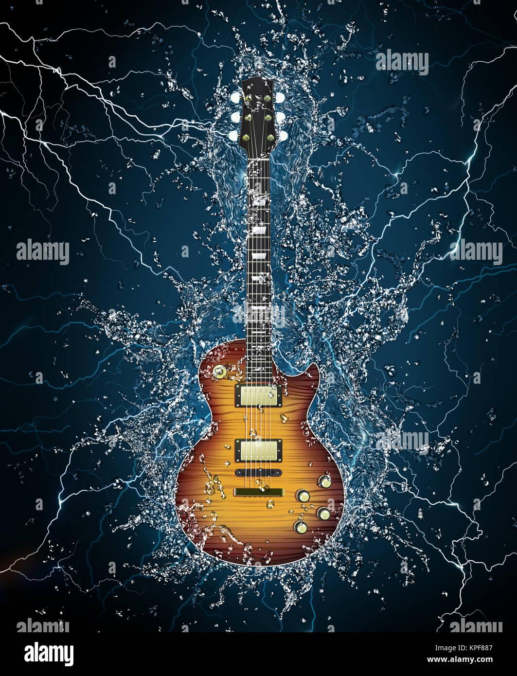 Sfondo chitarra rock
