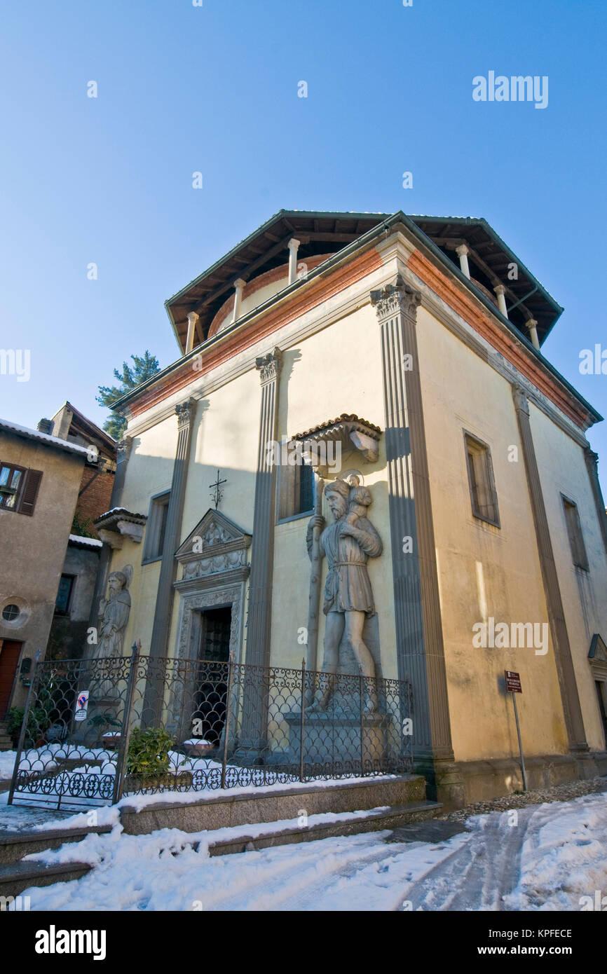 Provincia di Varese, Castiglione Olona, SS Corpo di Cristo la Chiesa Immagini Stock