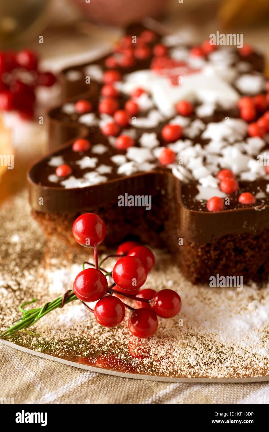 Torta A Forma Di Stella Di Natale.Star Shaped Chocolate Cake Immagini Star Shaped Chocolate Cake