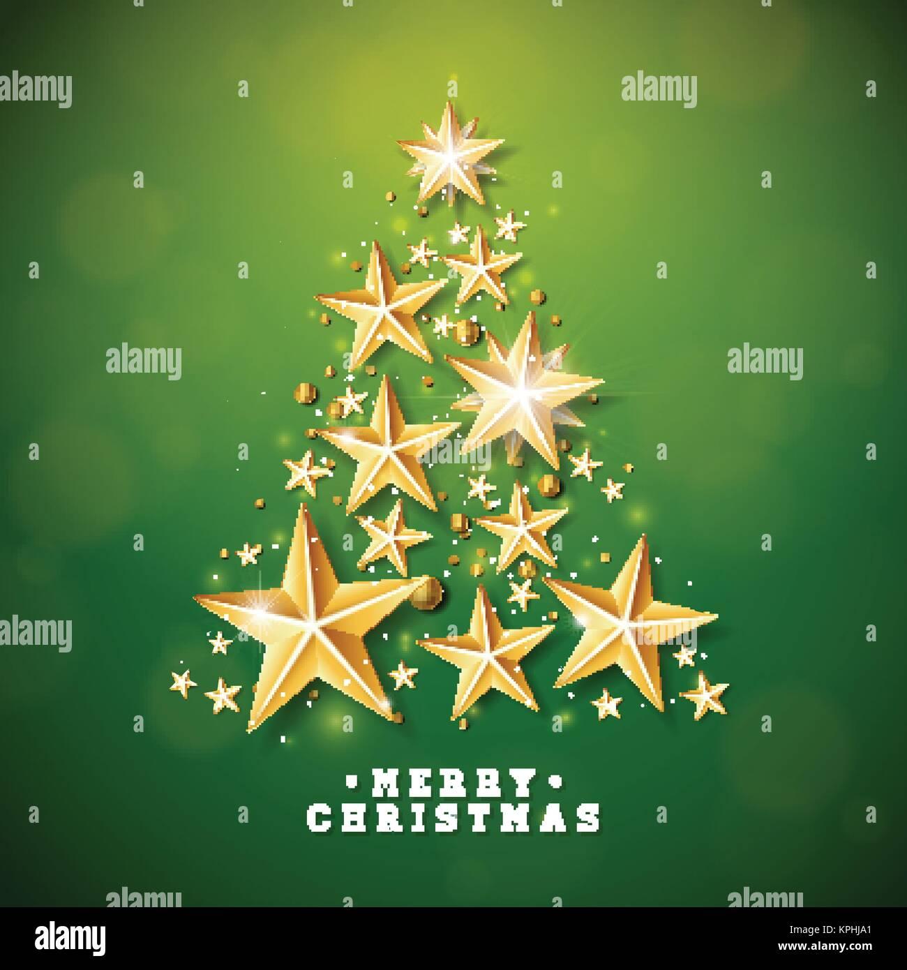 Biglietti Di Natale Di Carta.Vettore Di Natale E Anno Nuovo Illustrazione Con Albero Di Natale