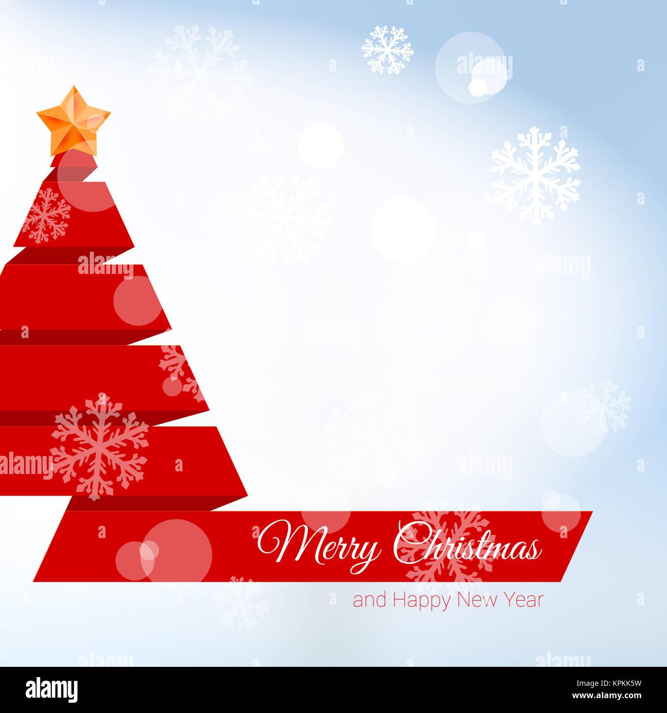 Stella Albero Di Natale Luminosa.Albero Di Natale Fatto Di Nastro Rosso Con Stella Di Natale Sfondo