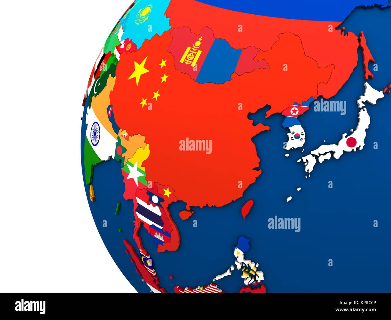 Cartina Dell Asia Orientale.Politica In Asia Orientale Mappa Foto Stock Alamy
