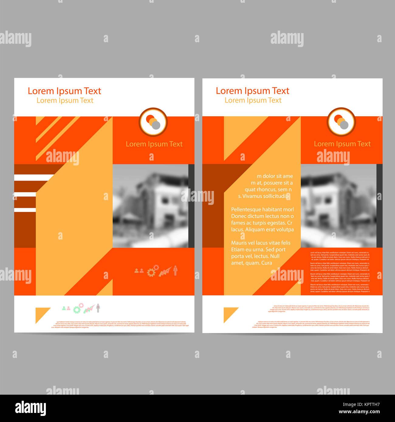 relazione annuale foglio illustrativo brochure modello flyer formato