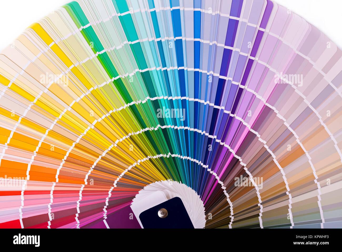 Tavolozza dei colori, catalogo con design i campioni di vernice Immagini Stock