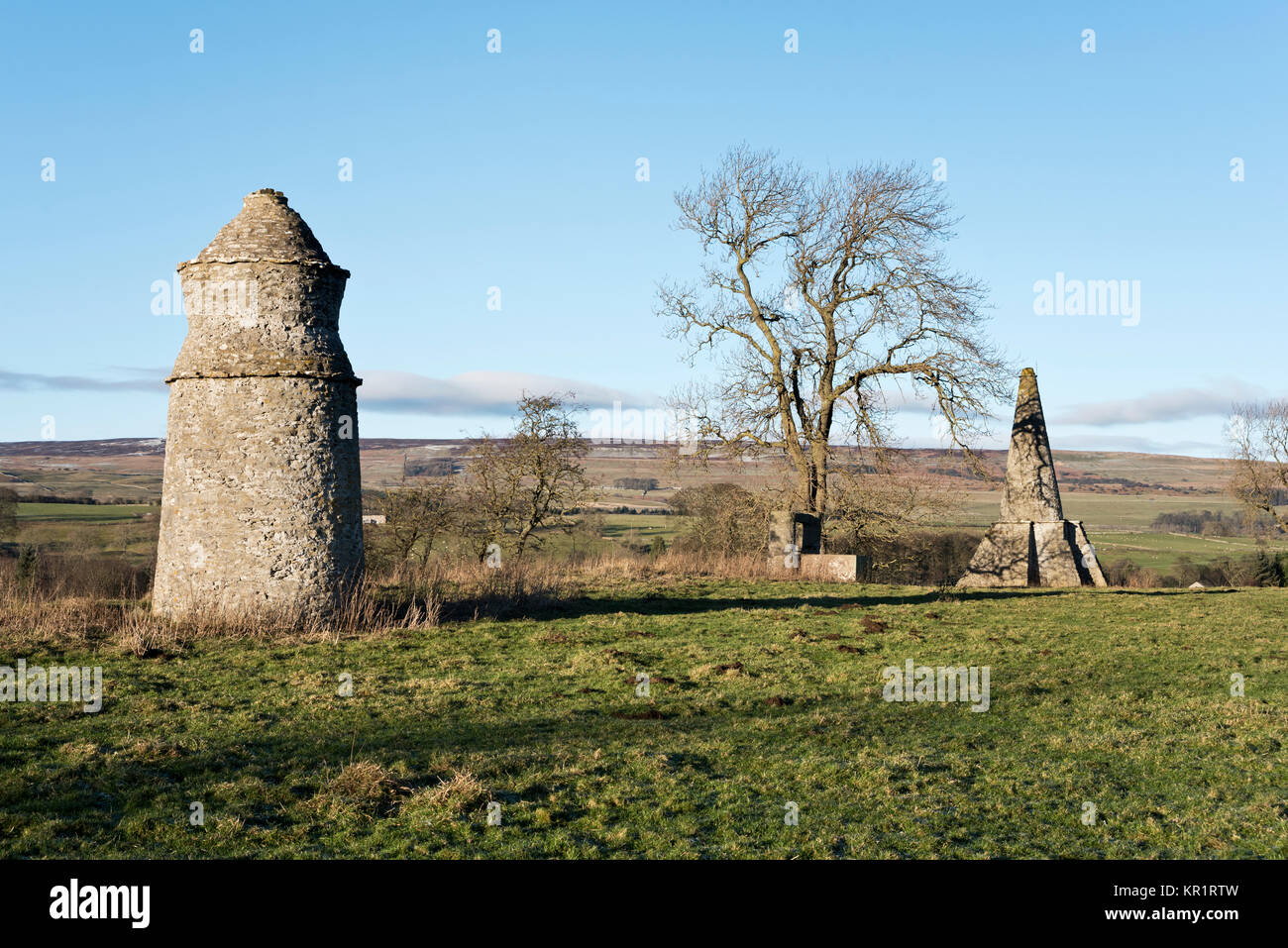 Onorevole Sykes follie. Parco Sorrelsykes, Edgley, Aysgarth, Yorkshire Dales National Park, Regno Unito Immagini Stock