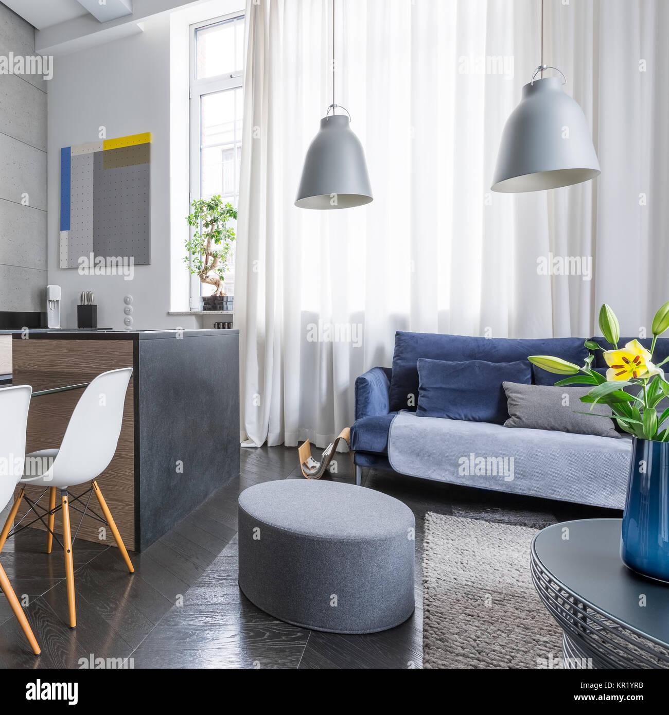 Moderno appartamento monolocale con angolo cottura e ...