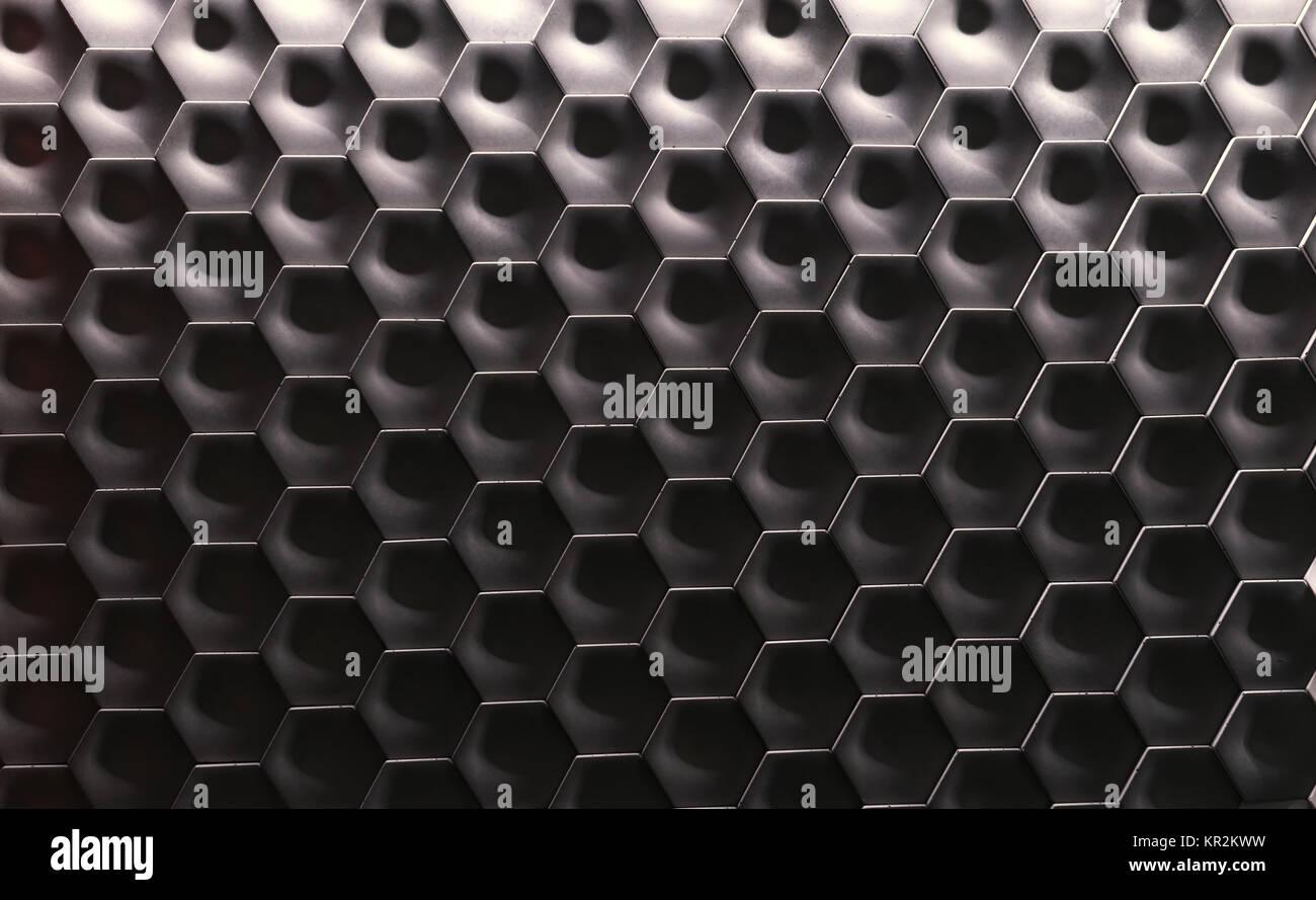 Parete esagonale superficie texture sfumatura grigia modello