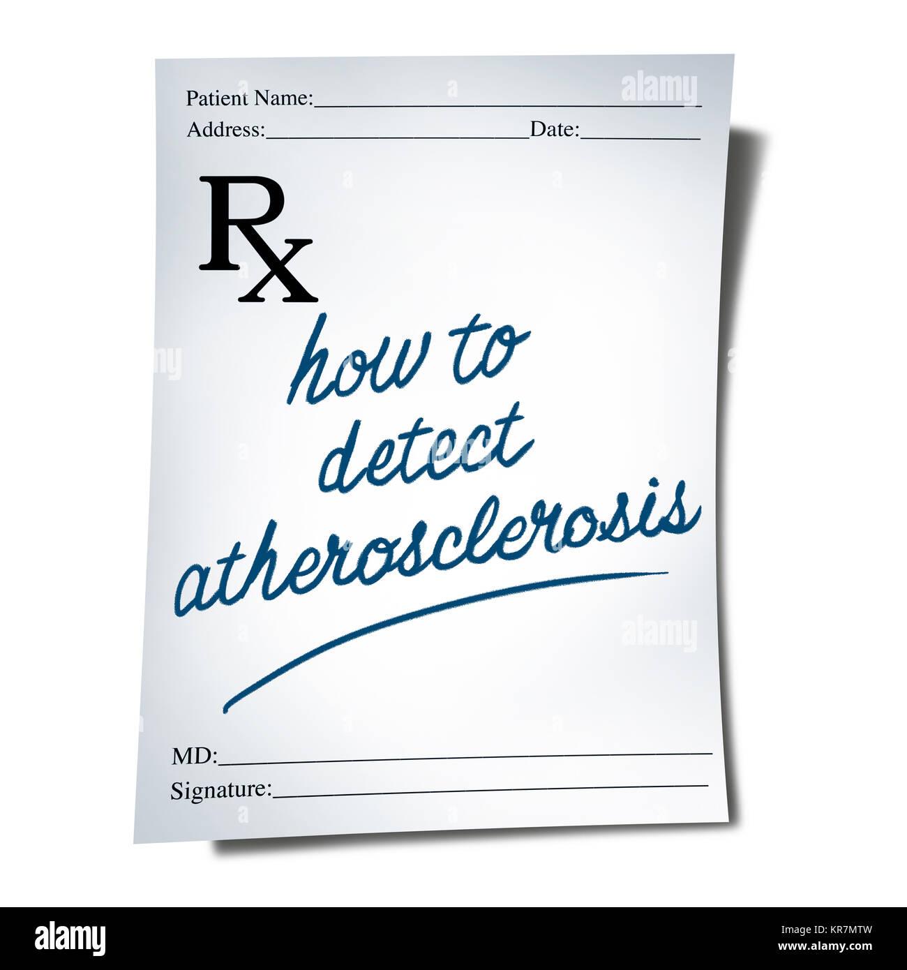 Aterosclerosi La Diagnosi Come Una Prescrizione Medico Nota Con Un