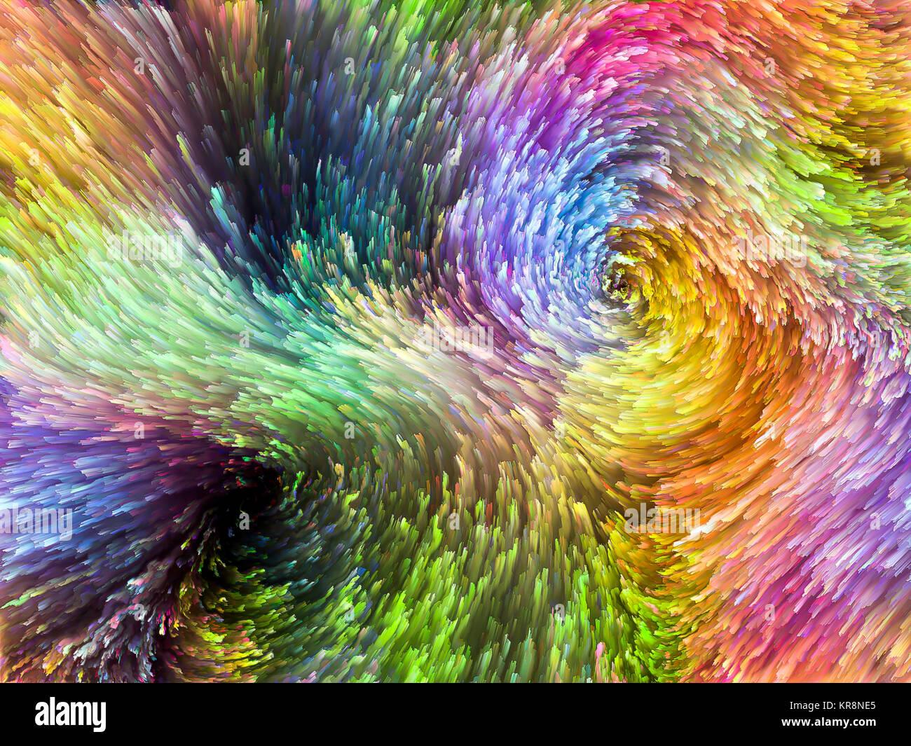 Burst di colore Immagini Stock