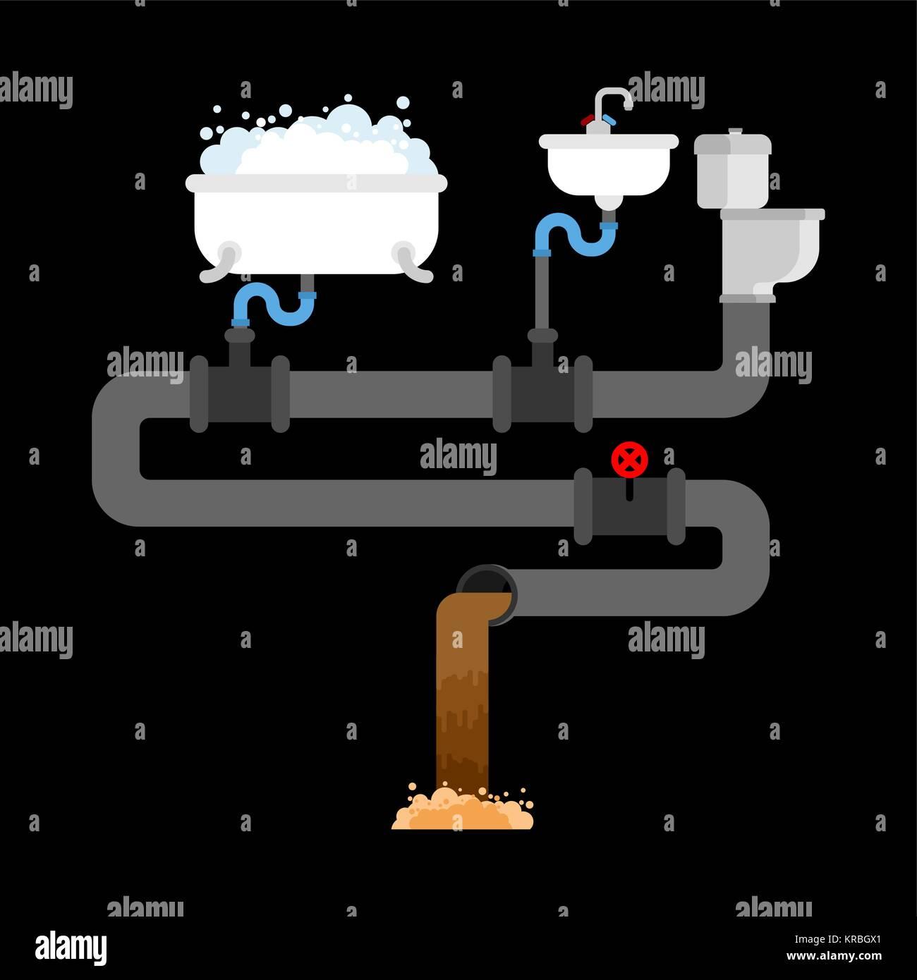 https://c8.alamy.com/compit/krbgx1/sistema-fognario-in-casa-tubazioni-e-valvole-lavandino-e-water-vasca-da-bagno-rete-fognaria-krbgx1.jpg