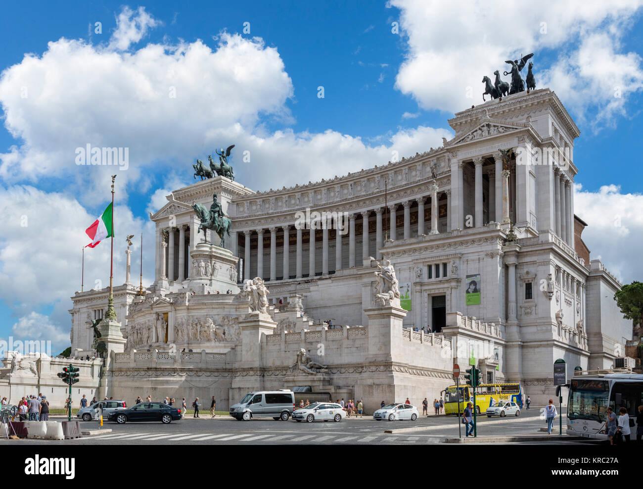 Il Victor Emmanuel Monument ( Monumento Nazionale a Vittorio Emanuele II o Altare della Patria ), Roma, Italia Immagini Stock