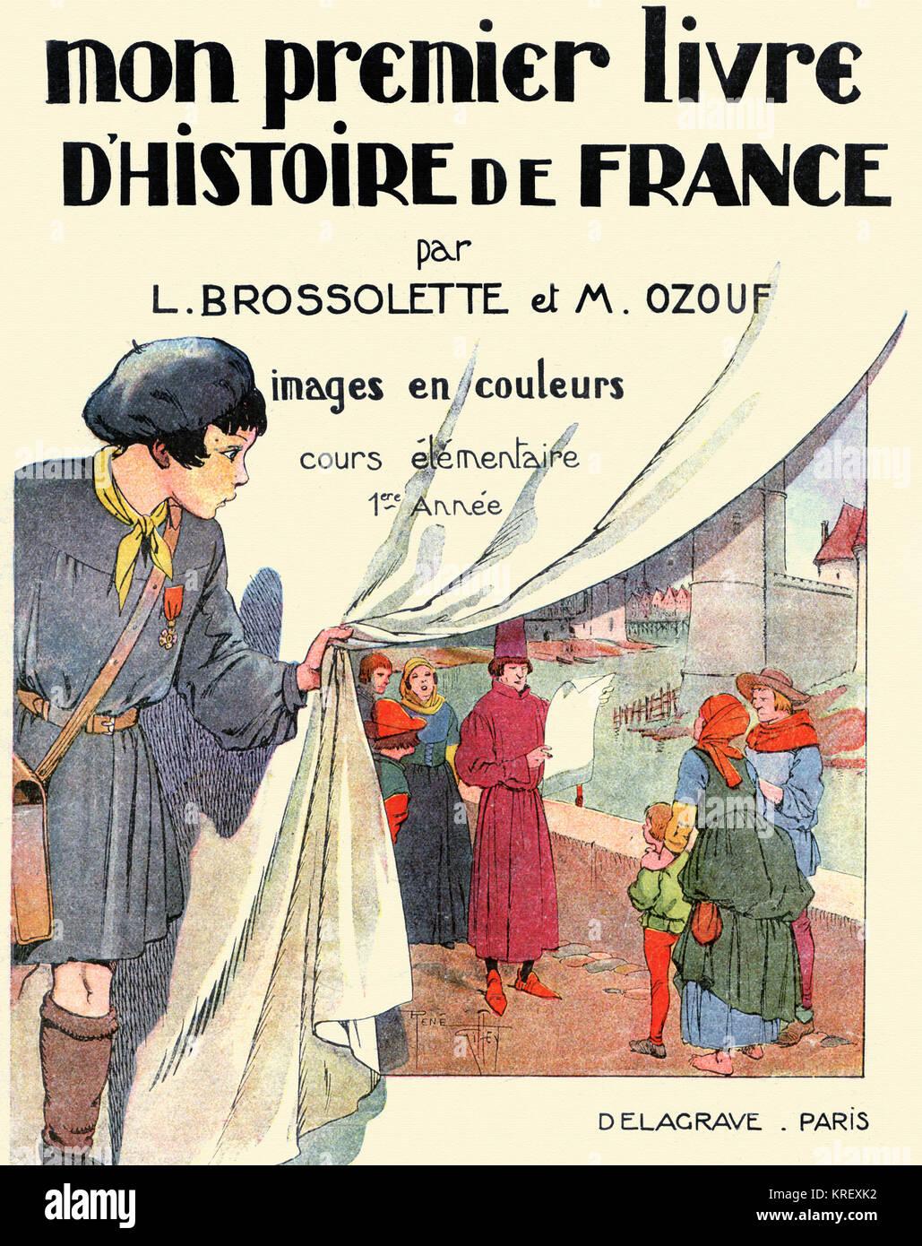Primo Libro sulla storia della Francia il coperchio Immagini Stock